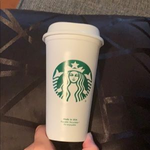 Starbucks reusable plastic cup